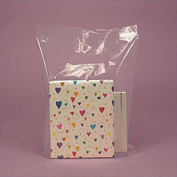 CLEAR 100pk Premium Glossy Plastic Merchandise Party Gift Favor bags