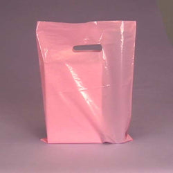 LIGHT PINK 100pk Premium Glossy Plastic Merchandise Party Gift Favor bags