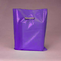 PURPLE 100pk Premium Glossy Plastic Merchandise Party Gift Favor bags