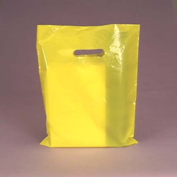 YELLOW 100pk Premium Glossy 9 x 12 inch Plastic Merchandise Party Gift Favor bags