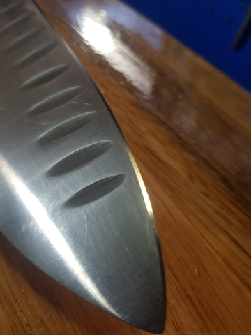 German Kitchen Knife after Sharpening at ProTooling Japanese Knives & Tools Australia