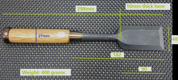Atsude Japanese Chisel Dimensions - Kitchen Knives, Whetstones & Tools Japan