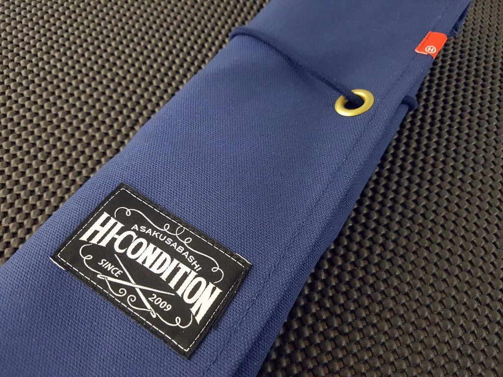 Hi-Condition Hanpu Premium Japanese Canvas Knife Roll (6 Pocket) - Navy