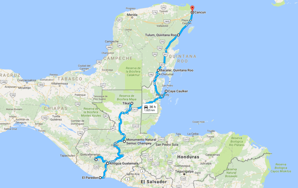 Backpacking Central America Live High