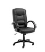 High-back Swivel/tilt Top-grain Leather Desk Chair
