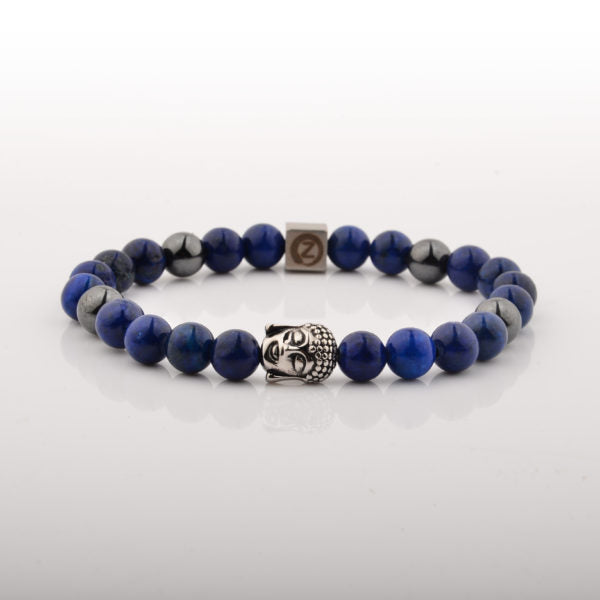 The Buddha Lappis Bracelet Healing Jewelry with Hematite Beads, True Zen Art from TIGEREYES