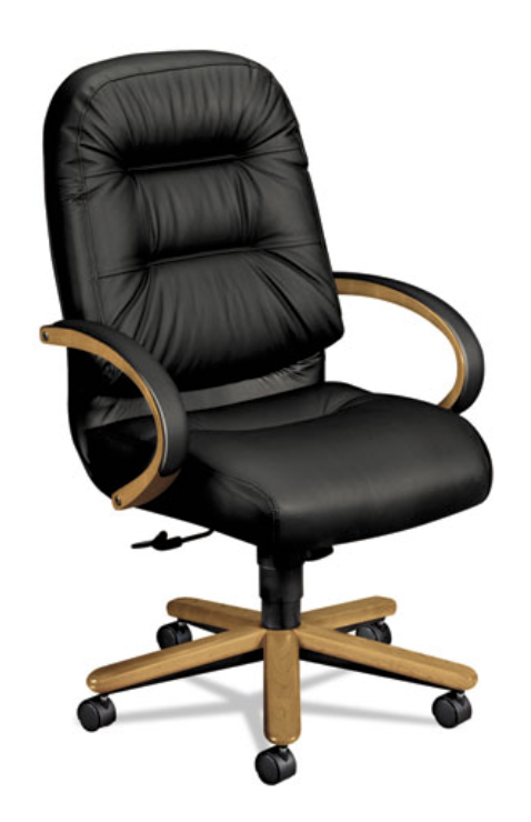 Executive High-back Chair, Harvest/black Leather