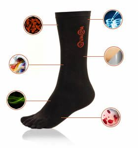 5 - Pack Five Toe Copper Socks