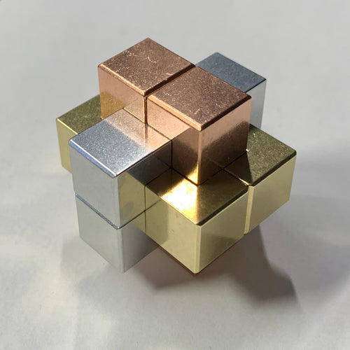 Love's Dozen Tri-Metal Burr Puzzle (6 mm series)