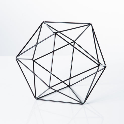 Polygon Iron Frame Decor Ball