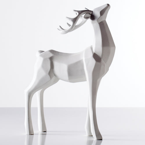 Carved Angle Stag Decor