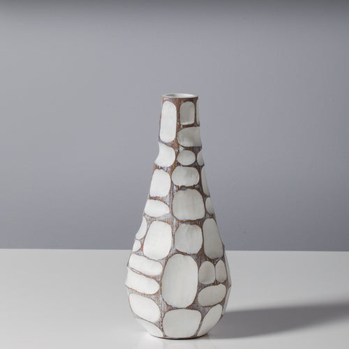 Carved Patch Resin Teardrop Vase