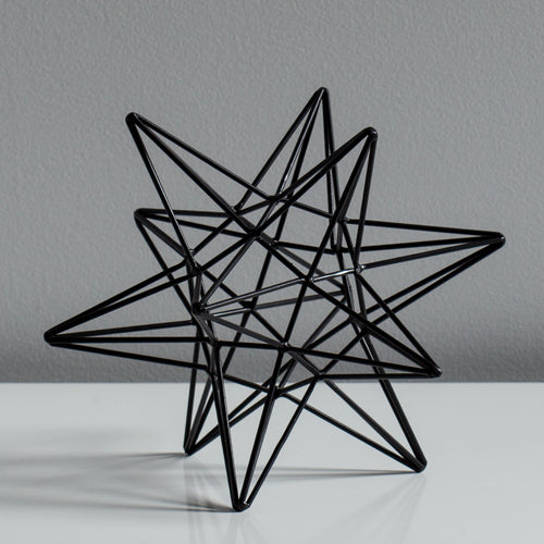 Sputnik Decor Sculpture - Black