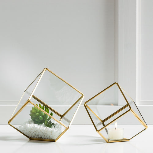 Oro Cube Glass Terrariums Set of Two