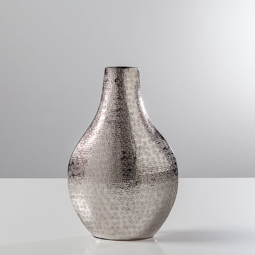 Tiber Hammered Pinched Bottle Vase
