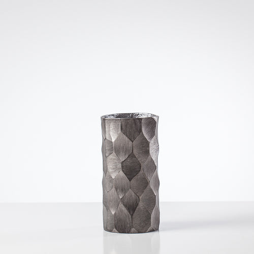 Linus Chiseled Brushed Cylinder Vase