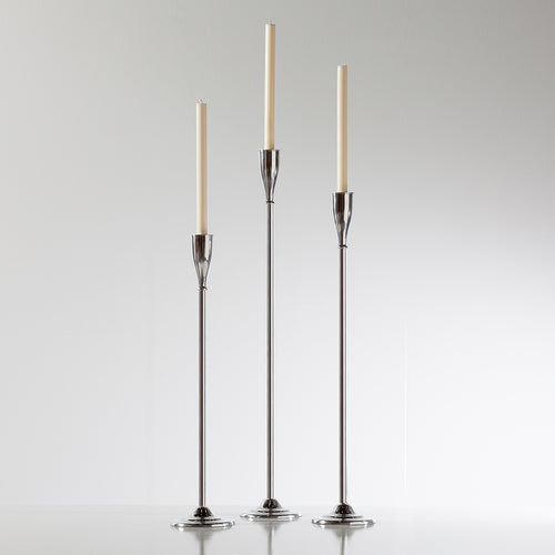 Treo Aluminum Floor Taper Candle Holders - Set of Three