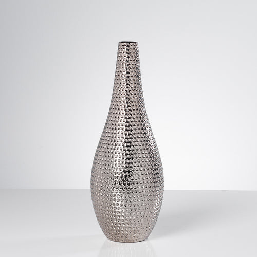 Helio Hammered Ceramic Pin Vase