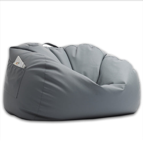 Leather Bean Bag Grey