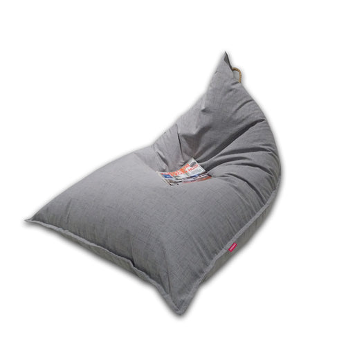 Triangle Bean Bag Grey