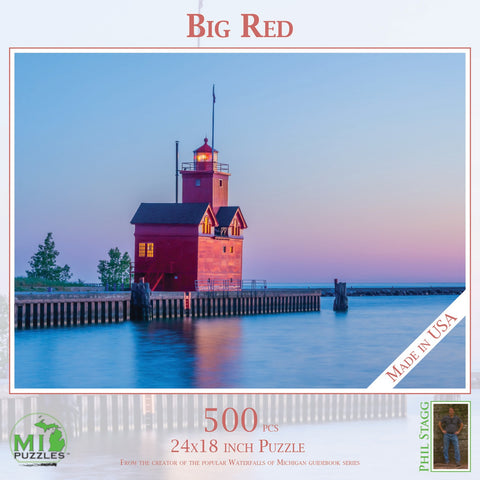 Big Red (Holland Lighthouse) Puzzle 500 pcs