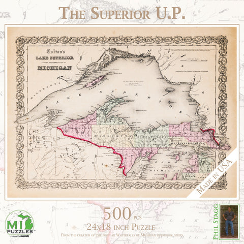 The Superior U.P. Map Puzzle 500 pcs