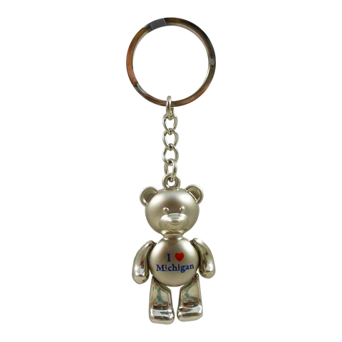 Michigan Bear Keychain