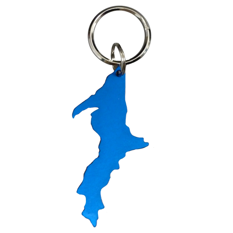Blue Upper Peninsula Keychain