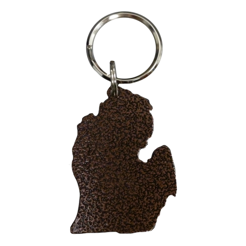 Copper Lower Peninsula Keychain