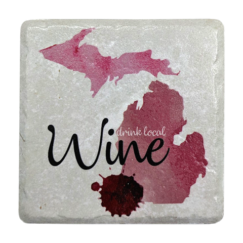 Drink Local Wine Coaster