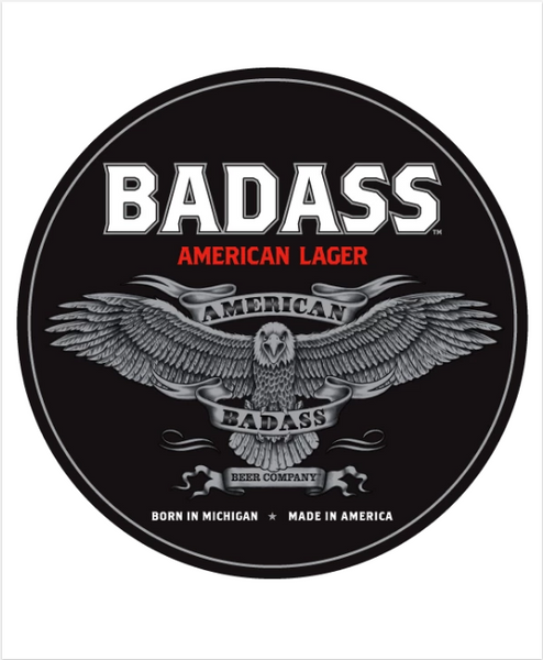 Made in Detroit Badass American Lager Sticker
