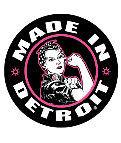 Rosie the Riveter Sticker - Black & Pink