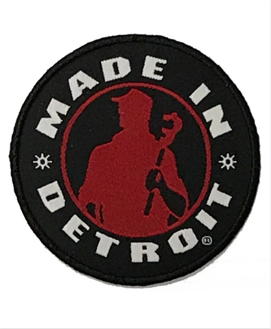 Made In Detroit Circle Patch - Red & Black