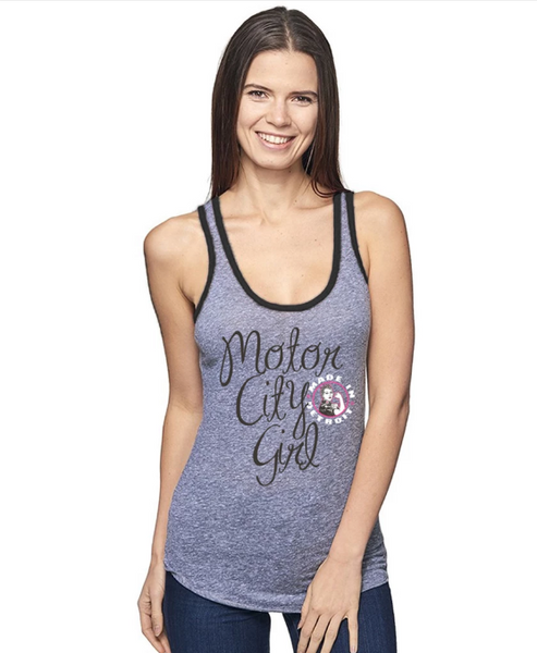 Motor City Girl Tank - Gray