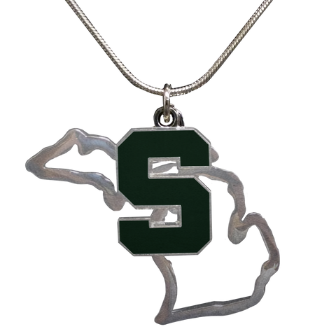 MI Necklace w/ MSU Charm