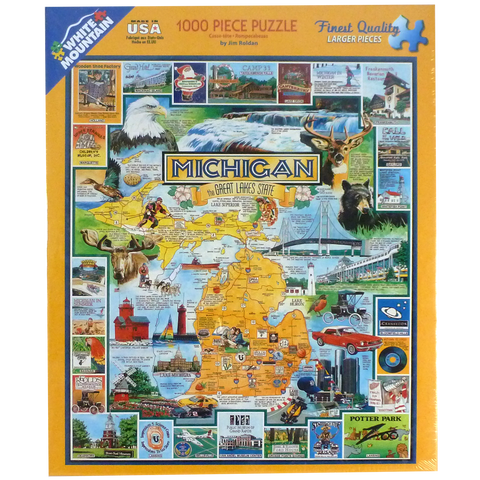 Michigan- The Great Lakes State Puzzle