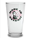 Rosie the Riveter Pint Glass - Black & Pink