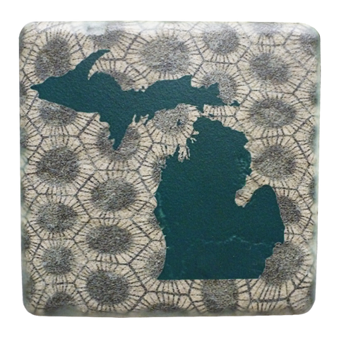 Michigan Petoskey Stone Coaster