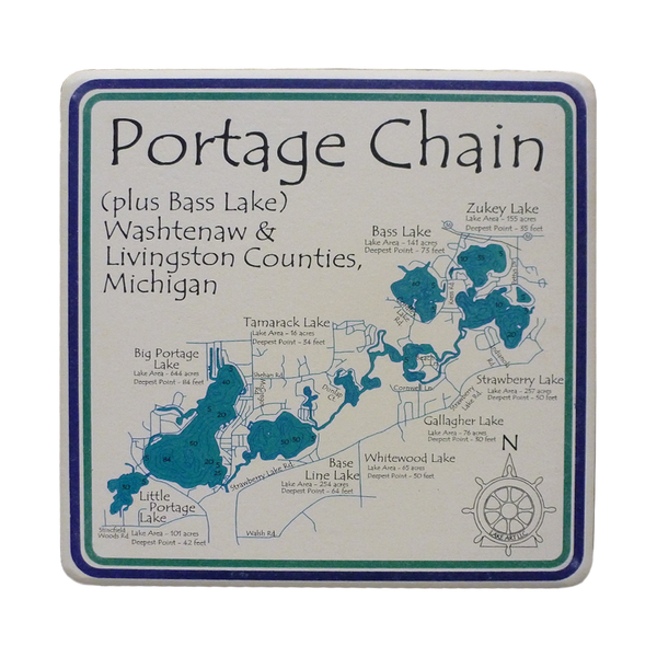 Portage Chain Coaster