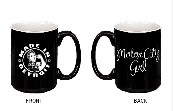 Rosie the Riveter / Motor City Girl Mug - Black & White