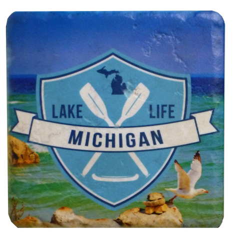 Lake Life Michigan Coaster