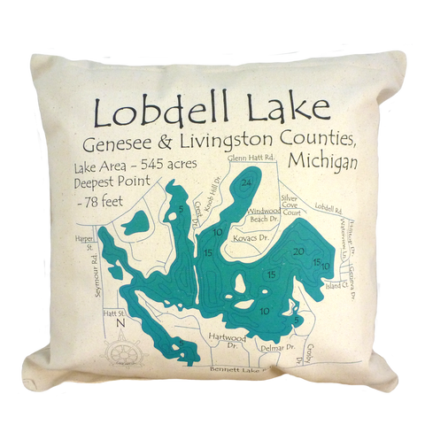 Lobdell Lake Pillow