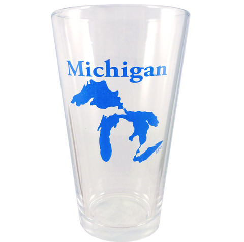 Great Lakes Outline Pint Glass