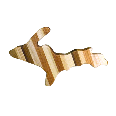 Multicolored U.P. Michigan Cutting Board