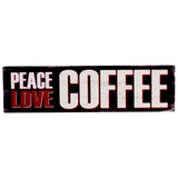 Peace Love Coffee Magnet