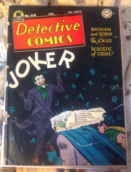 Detective Comics 114 FR/G (1.5) Joker Cover