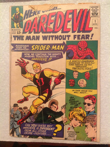 Daredevil 1 GD- 1.8 1st Daredevil, Foggy, & Karen