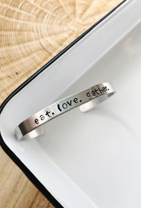 Amy's Lemon Kissed Wrist Cuffs - Eat . Love . Gather