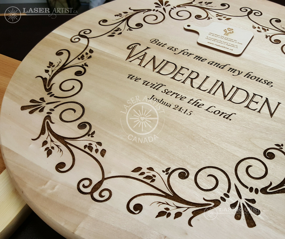 """Personalized Wedding Gifts Canada: 15"""" Engraved Lazy Susan"""