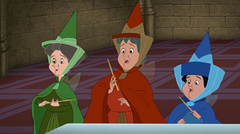 Flora, Fauna, and Merryweather from Sleeping Beauty